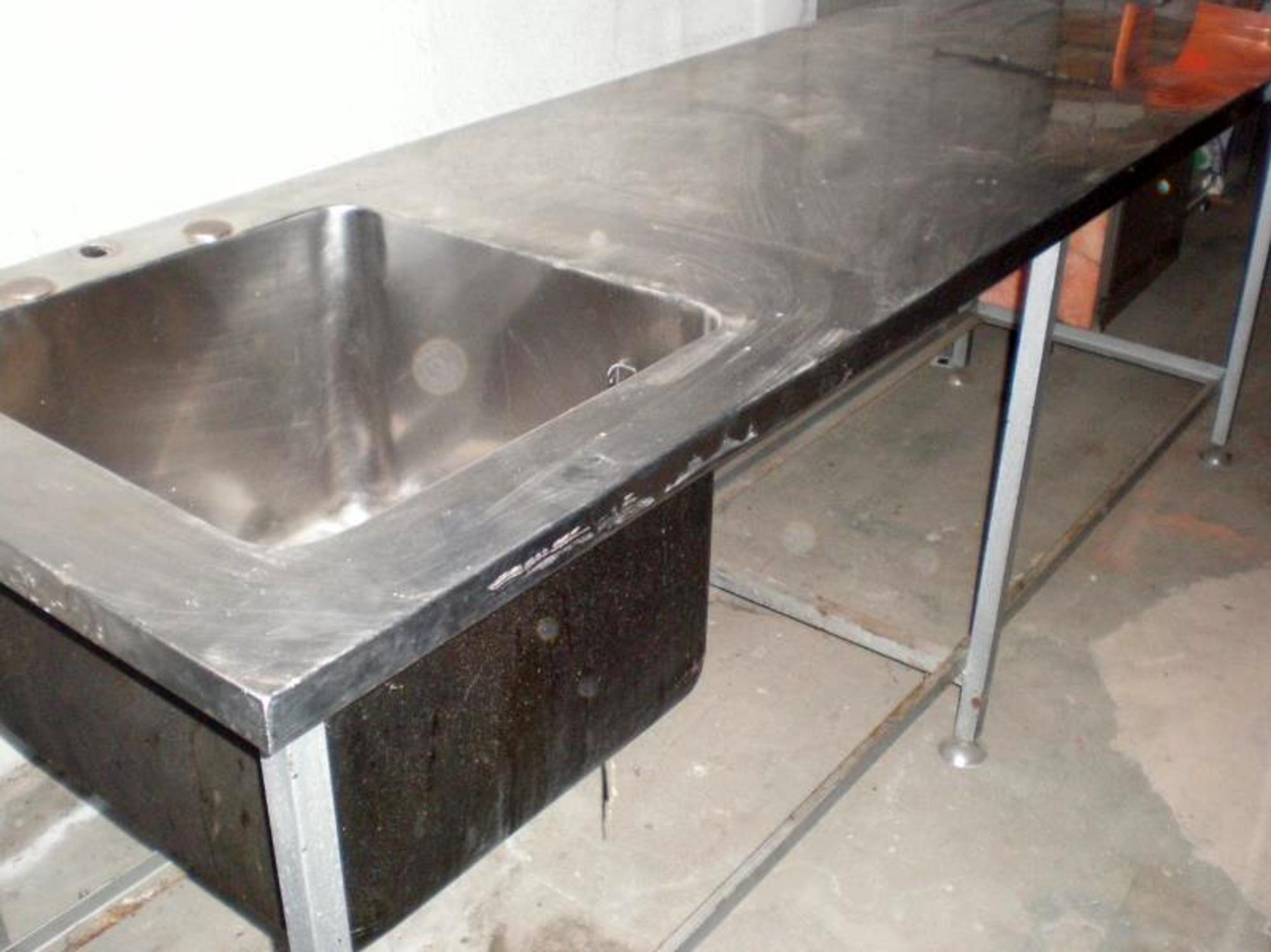 plan de travail inox table d 39 occasion aux ench res. Black Bedroom Furniture Sets. Home Design Ideas