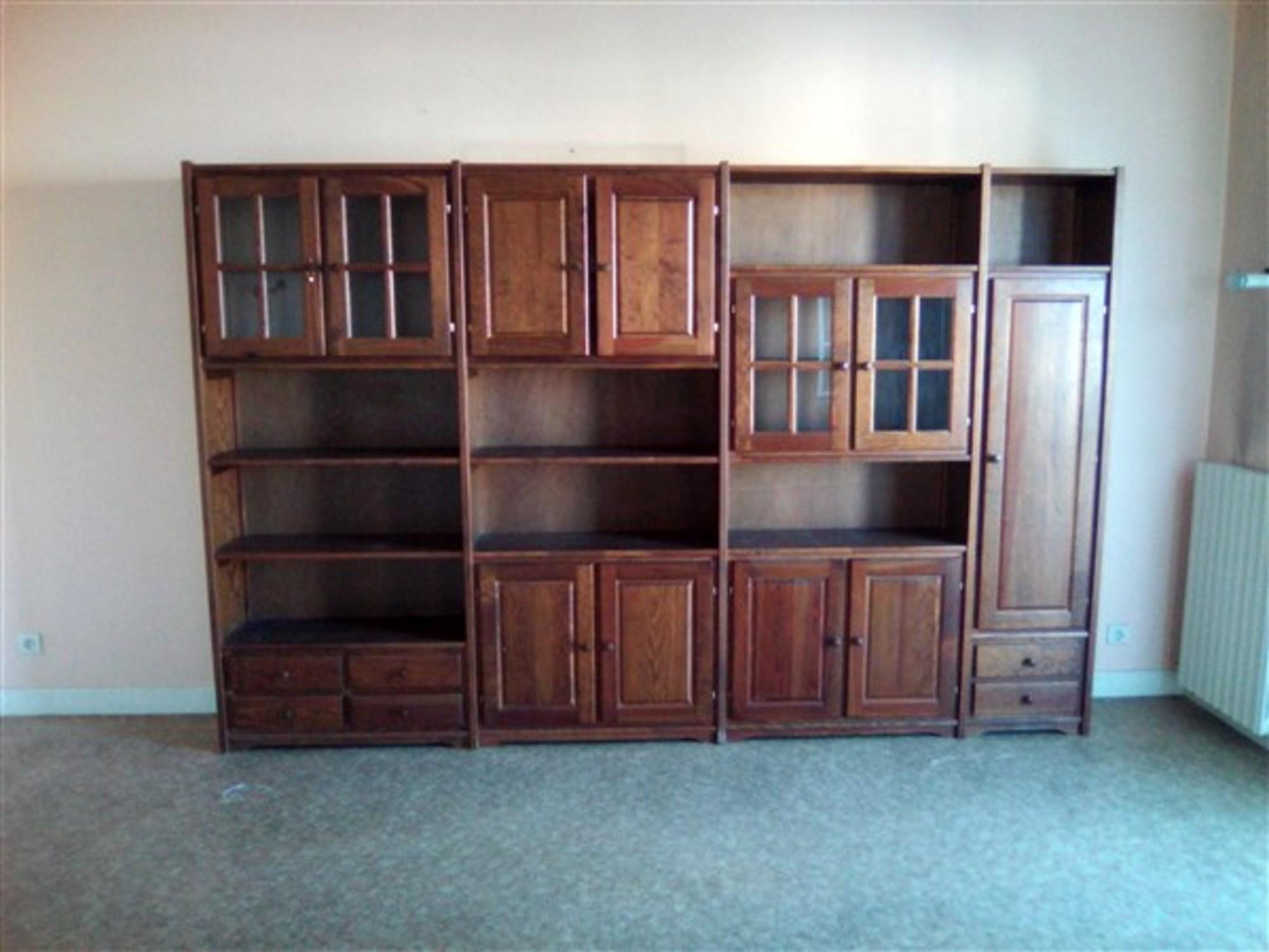 meuble biblioth que rangement d 39 occasion aux ench res agorastore. Black Bedroom Furniture Sets. Home Design Ideas