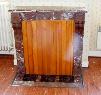 habillage cheminee en marbre encadrement autres d. Black Bedroom Furniture Sets. Home Design Ideas