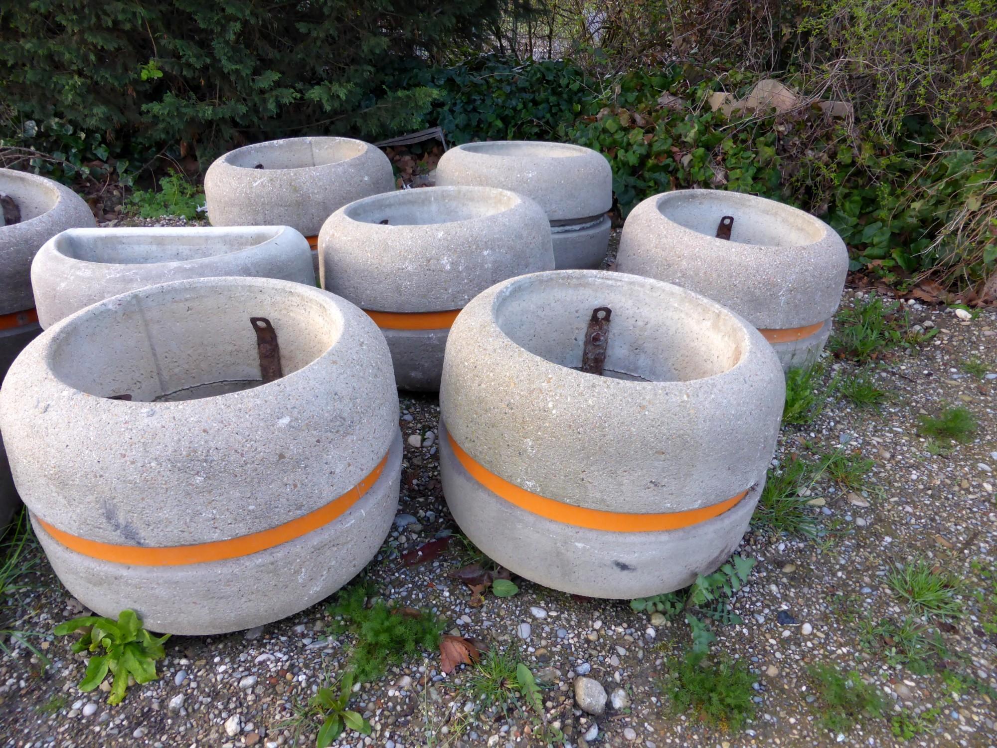 10 jardinieres en beton mobilier urbain d 39 occasion aux for Jardiniere interieur