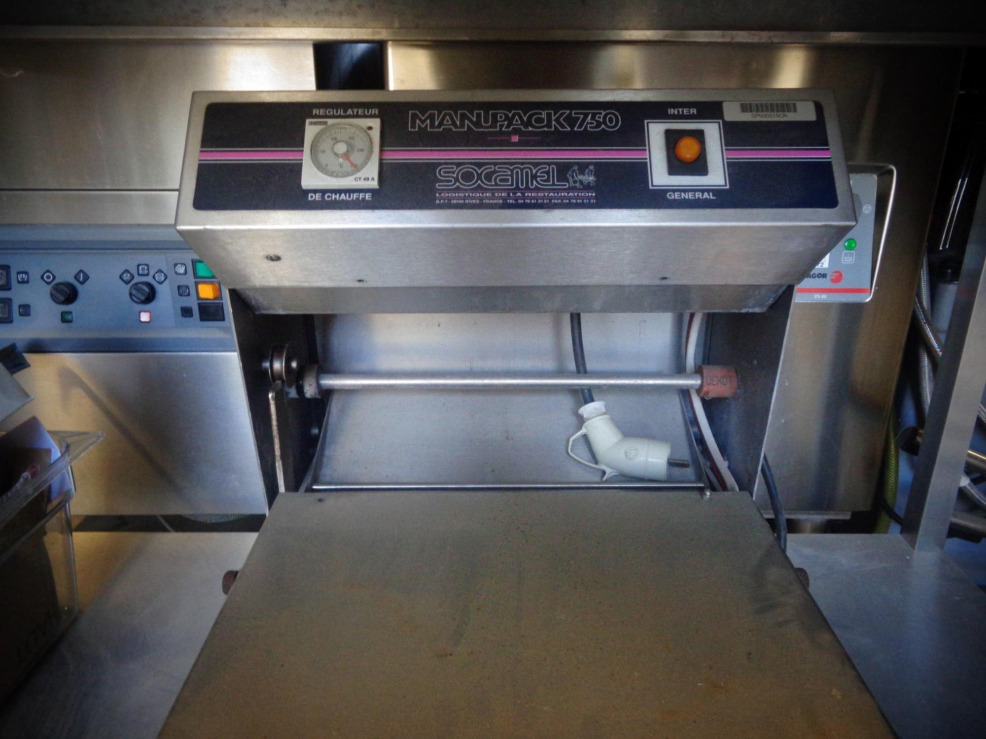 Thermoscelleuse manuelle equipement de cuisine d for Equipement de cuisine commerciale usage