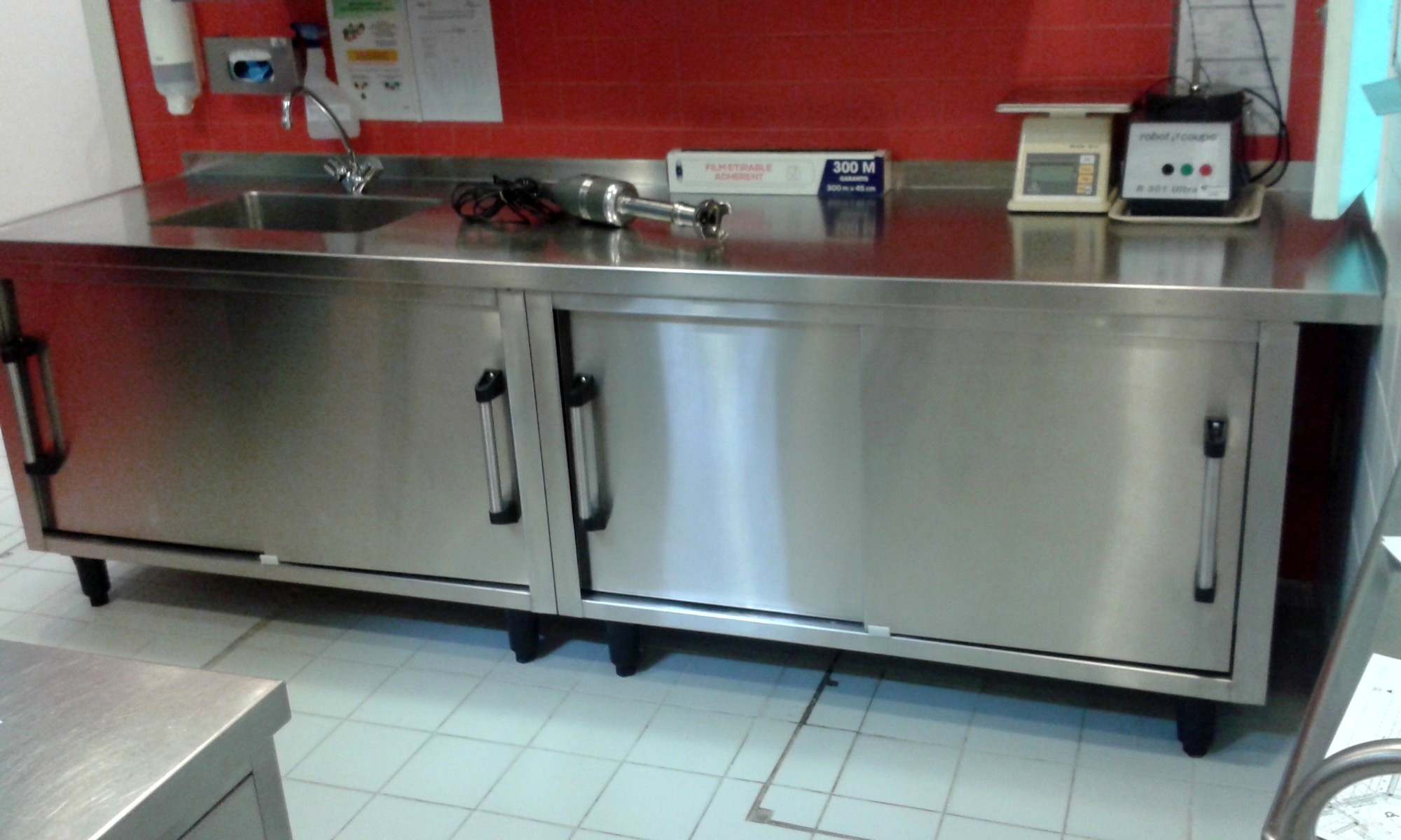 Meuble inox equipements lectrom nagers d 39 occasion aux - Aide cuisine collectivite ...