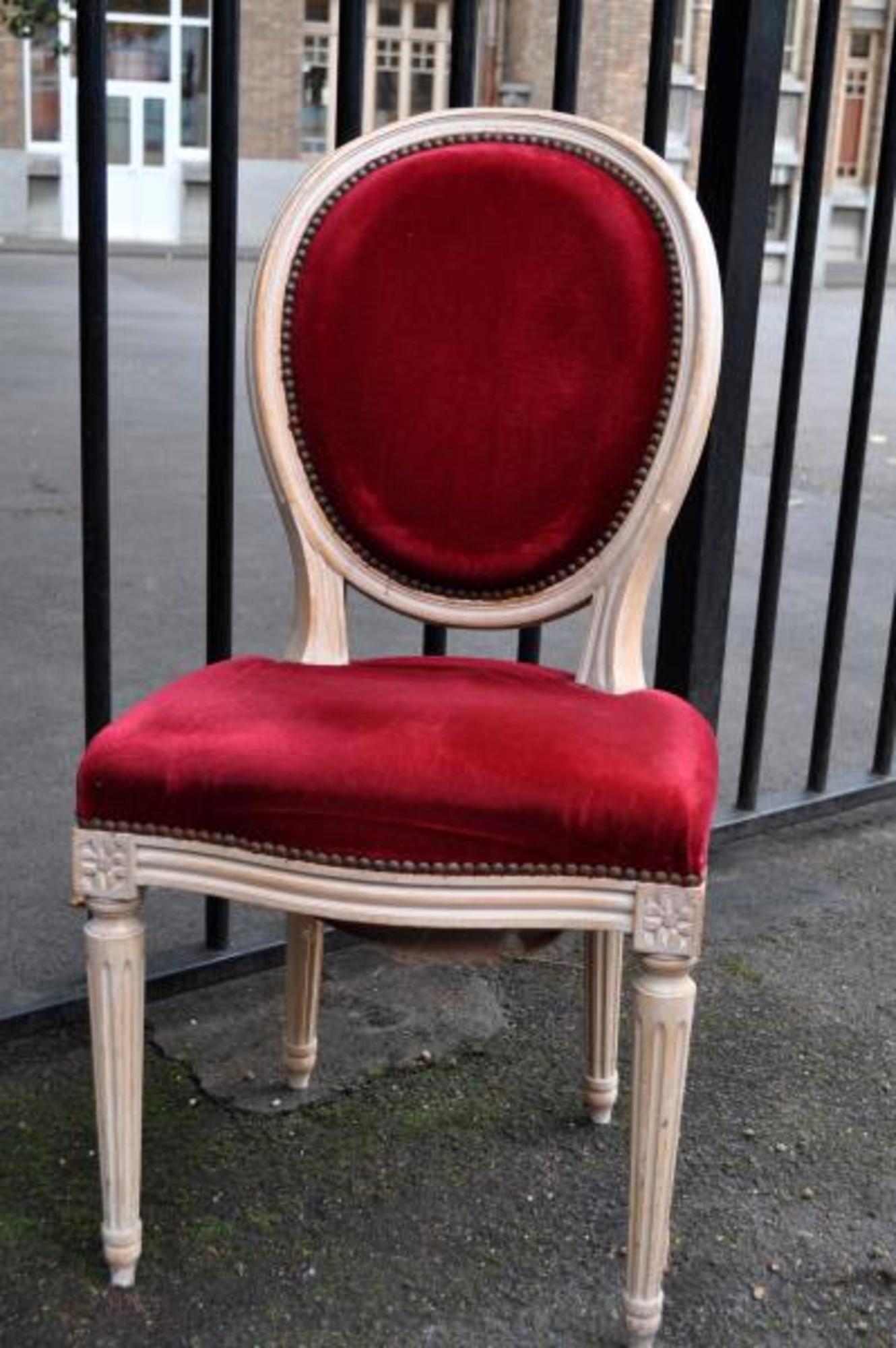 lot de 6 chaises m daillon chaise d 39 occasion aux ench res agorastore. Black Bedroom Furniture Sets. Home Design Ideas
