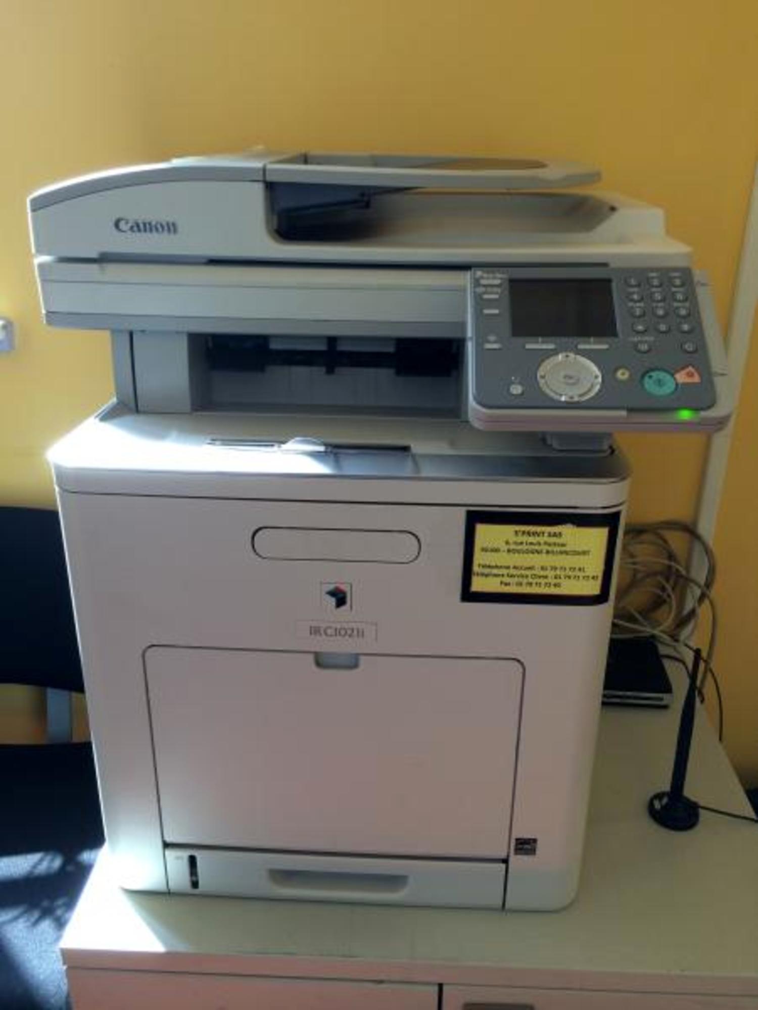 lot de 7 photocopieurs canon irc 1021 l fax copieur imprimante d 39 occasion aux ench res. Black Bedroom Furniture Sets. Home Design Ideas